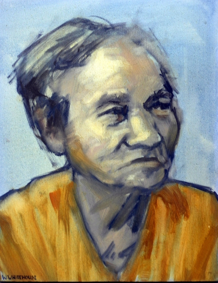 Banh Mi Lady 1, 40x30cm, oil on canvas, 2013