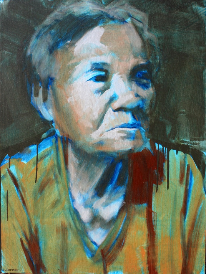 Banh Mi Lady 3, 80x60cm, oil on canvas, 2013