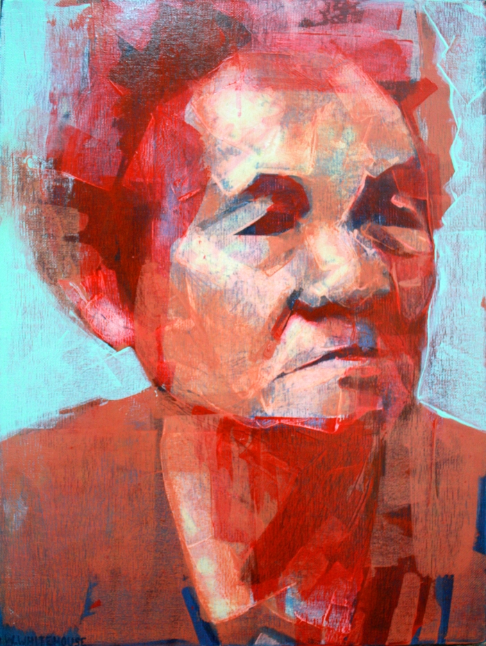 Banh Mi Lady 4, 40x30cm, acrylic on canvas, 2014