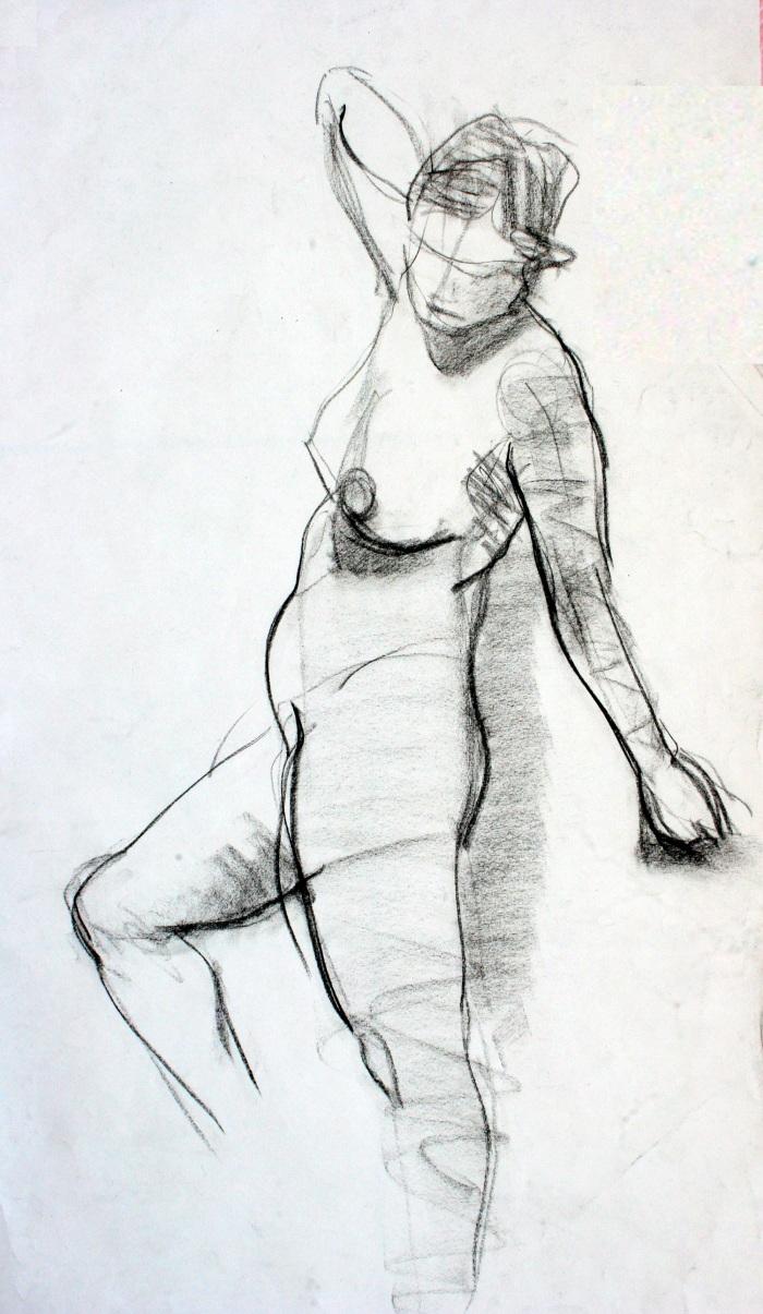 charcoal, 55x30cm, 2010