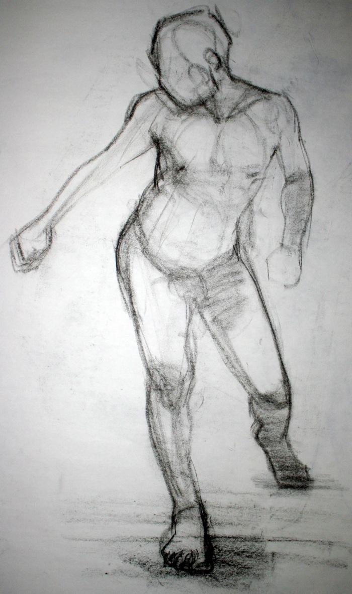 charcoal, 90x50 cm, 2010
