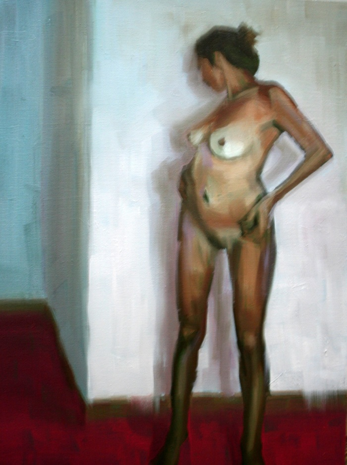 Girl in Light Room, 40x30cm, oil on canvas, 2012