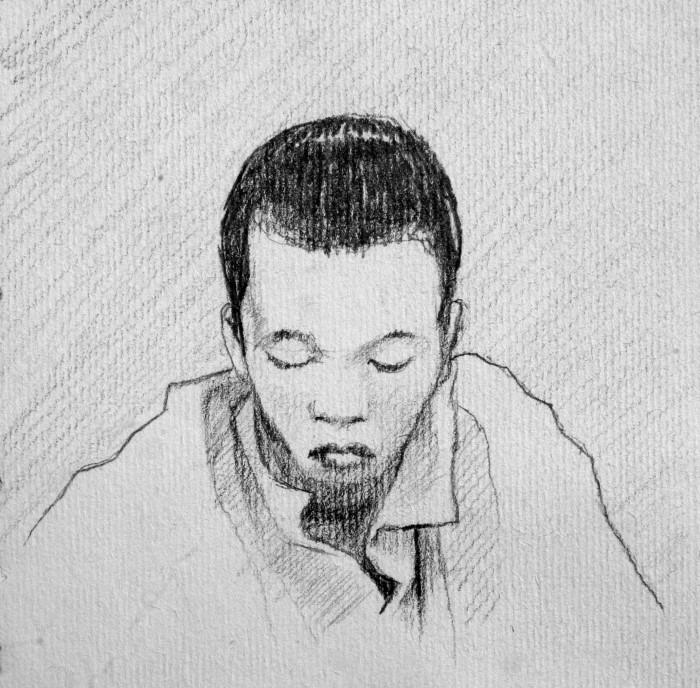 graphite, 12x12 cm, 2010