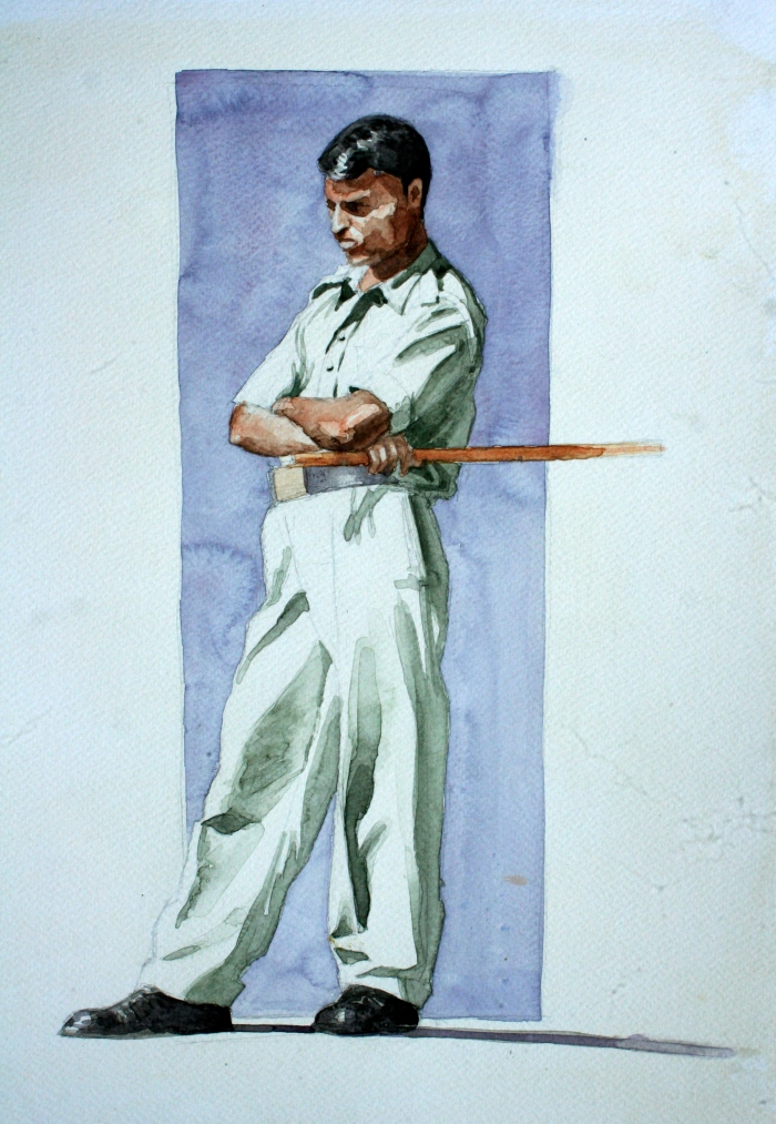 Security Guard, 40x30 cm, watercolor on paper, 2010