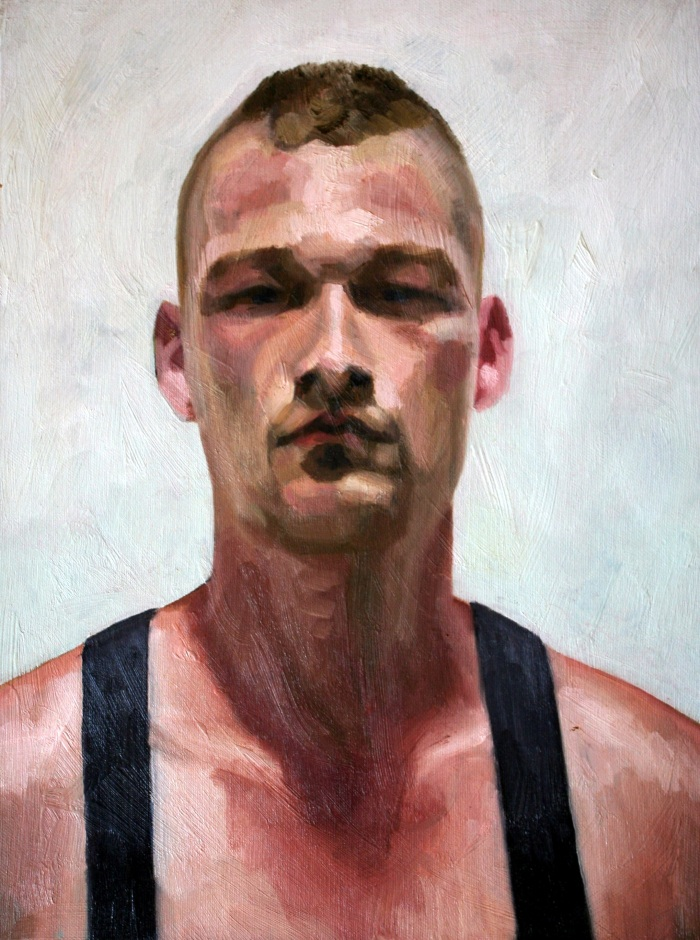 Shez in Suspenders, 40x30cm, oil on canvas, 2011