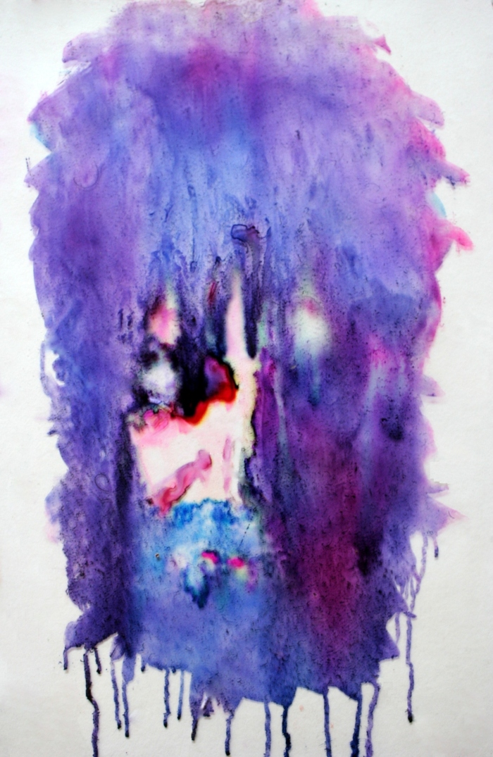 Untitled, 35x22cm, colored ink on glass, 2011