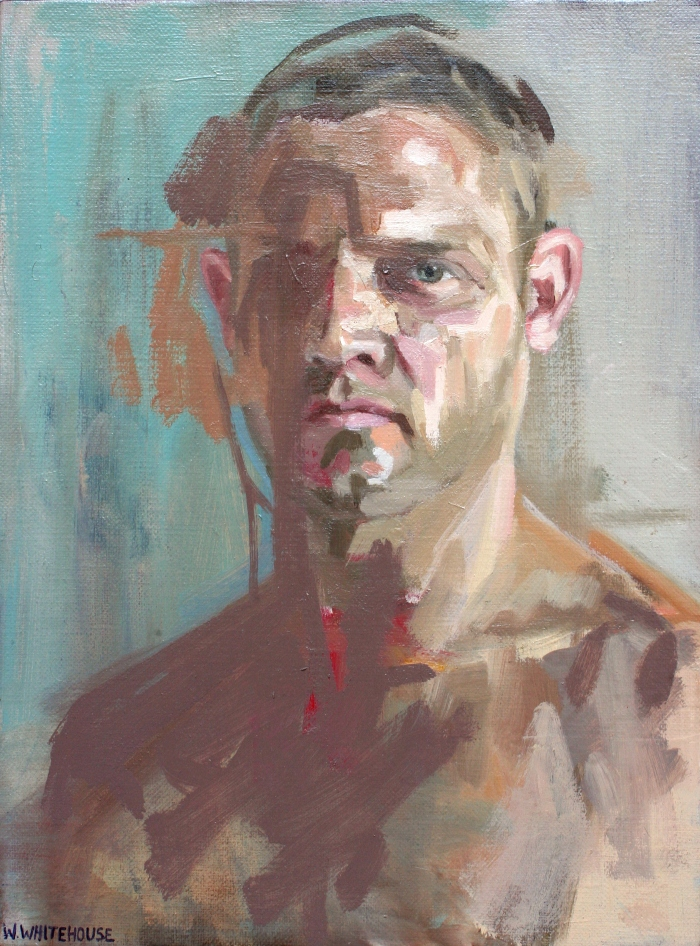 Self Portrait in Stuffy Room, 40x30cm, oil on canvas, 2012