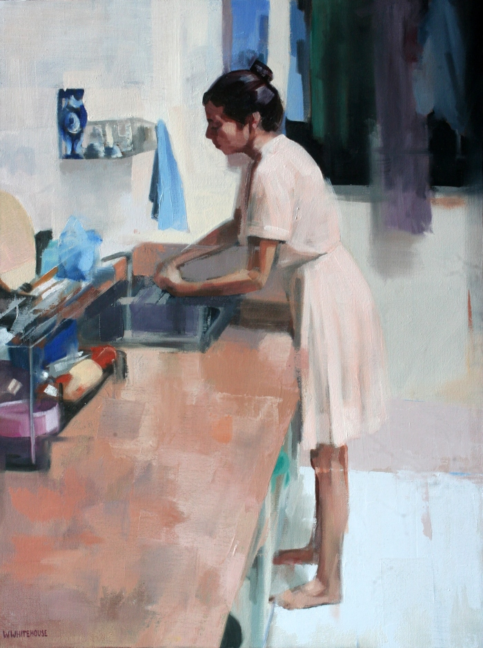 Denise in Kitchen, 60x45 cm, oil on vanvas, 2014