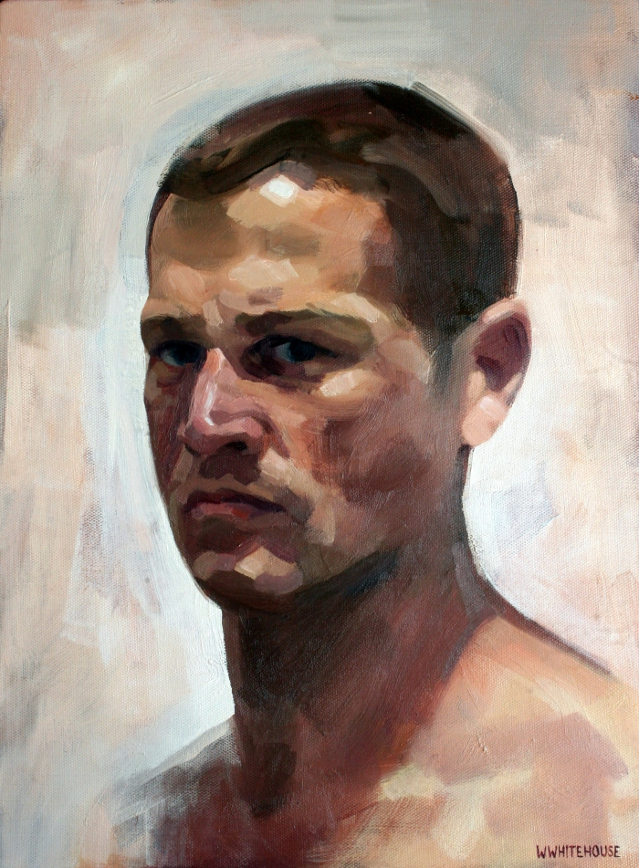 Self Portrait in Stuffy Room #2, 40x30 cm, oil on canvas, 2014