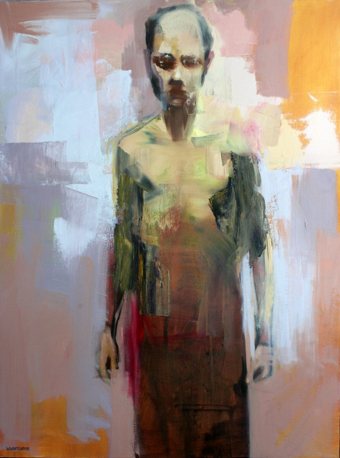 Male Figure Standing, 80x60 cm, acrylic, ink, and oil on canvas, 2015