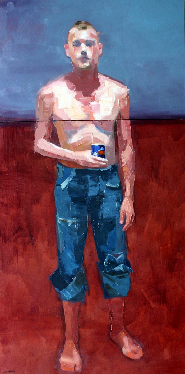 S.C. with Beer Can, 40x60 & 80x60 cm, oil on canvas, 2015