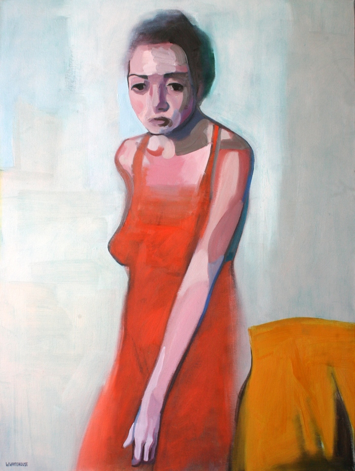 Woman in Orange Dress, 80x60 cm, oil on canvas, 2015