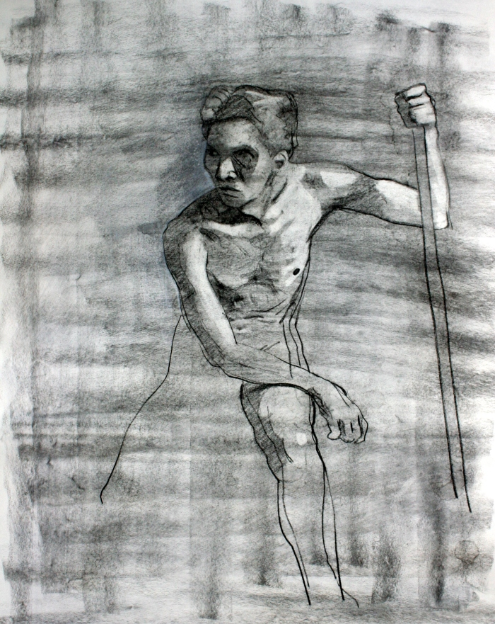 vine charcoal and charcoal pencil, 72x55 cm, 2014