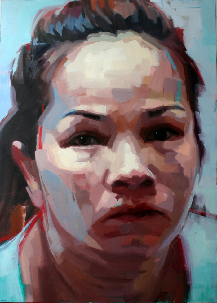Hu Tieu Lady, 164x117 cm, acrylic and oil on canvas, 2015
