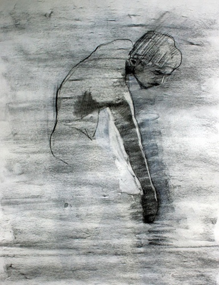 vine charcoal and charcoal pencil, 77x50 cm, 2014