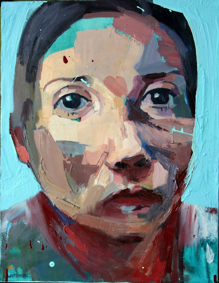 Funny Face, 45x35cm, oil and oxide primer on canvas, 2016