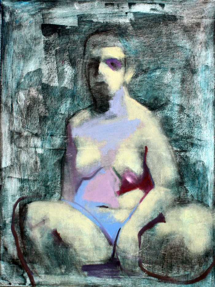seated-figure-61x46-cm-charcoal-acrylic-and-oil-on-canvas-2016